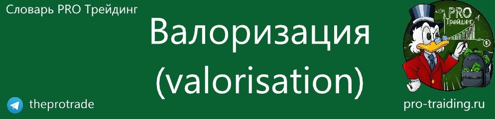 Что такое Валоризация (valorisation)