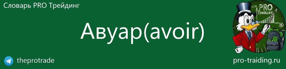Что такое Авуар (avoir)