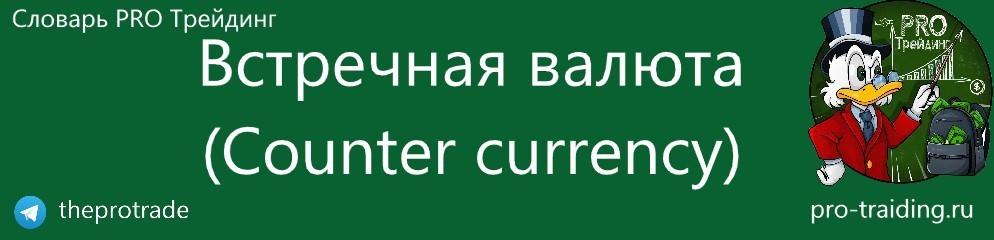 Что такое Встречная валюта (Counter currency)